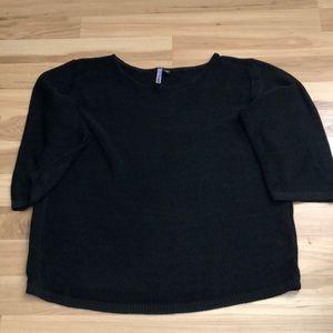 PowWow Black Knit Sweater